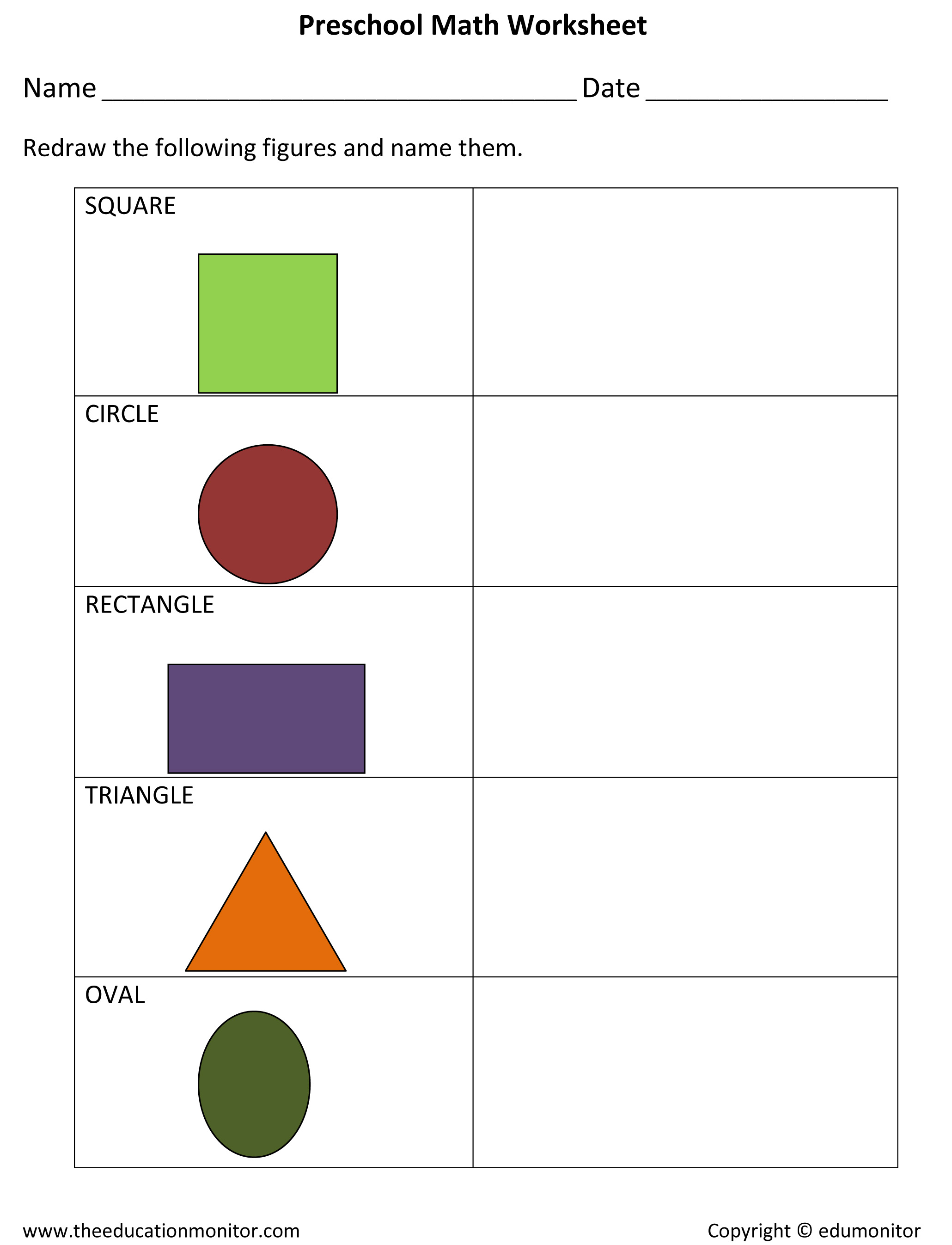 Activities draw and name worksheet colors shapes more – Name Worksheet