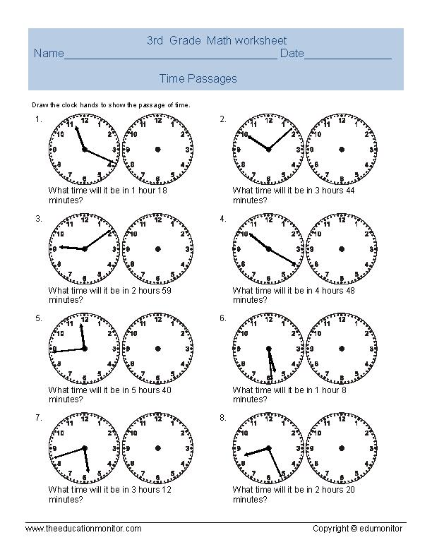 Third Grade Telling Time Worksheets Edumonitor. Third Grade Telling Time Worksheets. Worksheet. 3rd Grade Worksheets At Mspartners.co