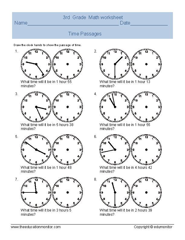 Reading Time Worksheets For Grade Worksheets for all | Download ...