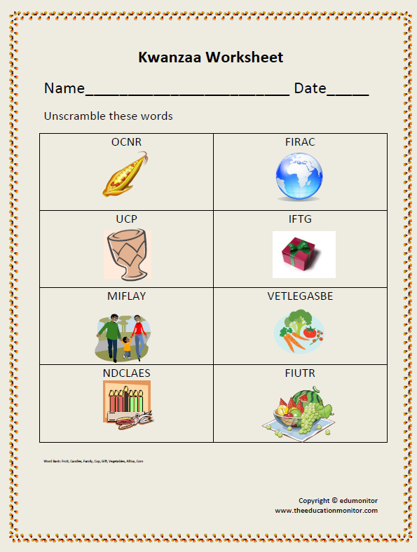 2nd Grade Page 15 Edumonitor. Kids Activitieskwanzaa. First Grade. Kwanzaa Worksheets For First Grade At Mspartners.co