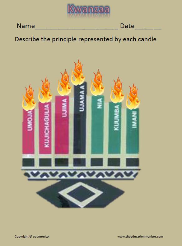 7 Kwanzaa Principles- candles represent seven principles of Kwanzaa