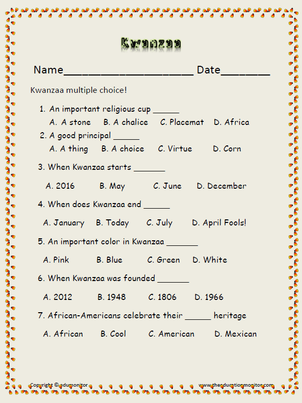Umoja Principle Of Kwanzaa Edumonitor. African American Kwanzaa Holiday. First Grade. Kwanzaa Worksheets For First Grade At Mspartners.co