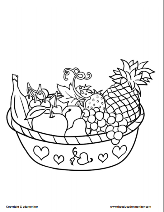 Coloring Pages for Kids Learning Nutrition – EduMonitor