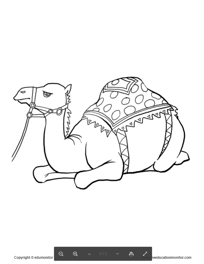 prinable coloring pages camel