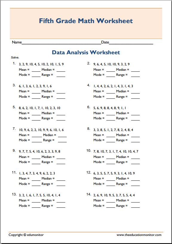 Mean median mode math worksheets Archives EduMonitor – Mean Median Mode Word Problems Worksheets