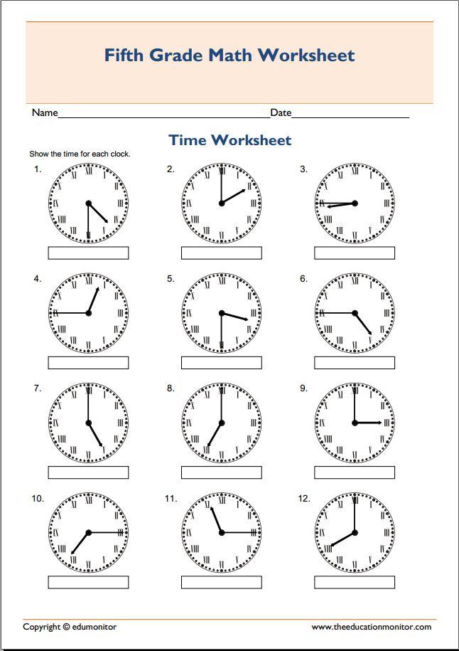 free telling time printables pdf edumonitor