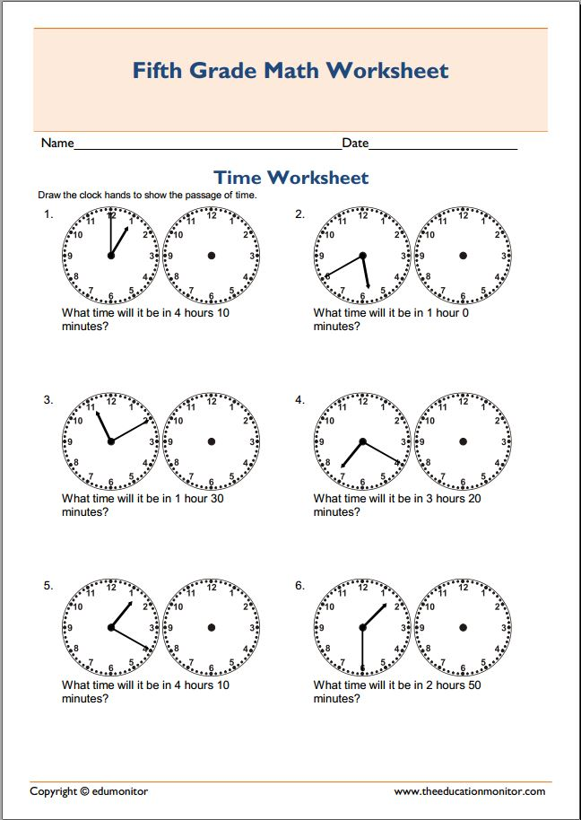 Free telling time worksheets grade 1