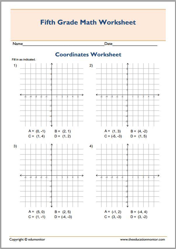 Plotting co-ordinates in all 4 quadrants by pjms - Teaching ...