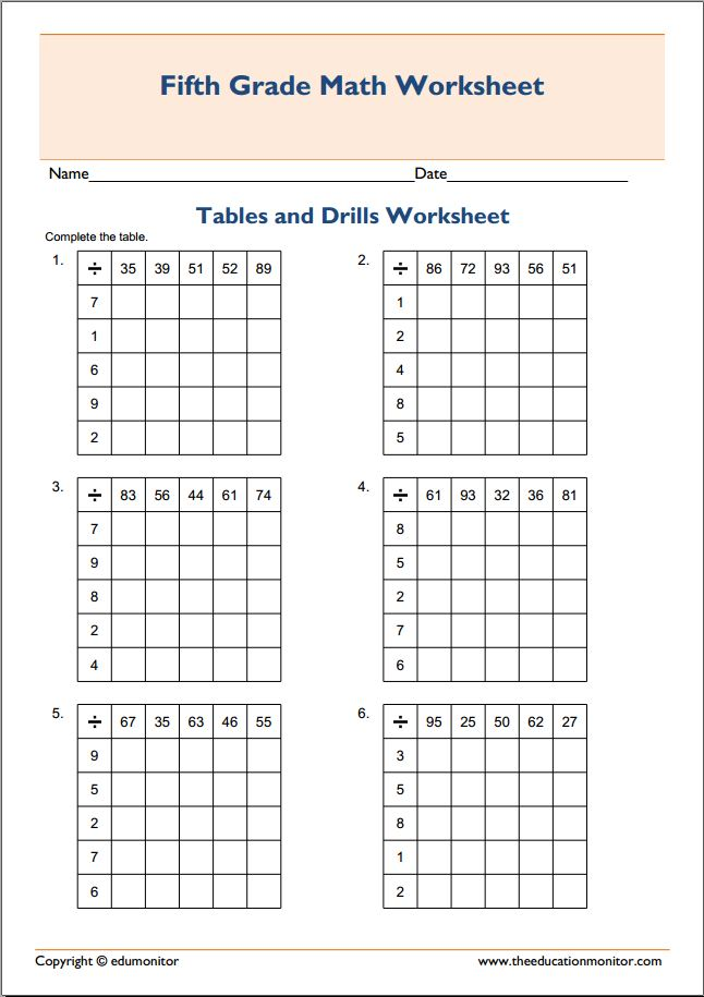 Test multiplication skills- Free printable tables