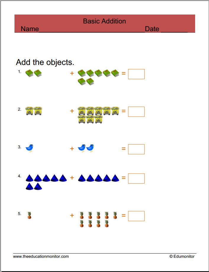 EduMonitor-Free Math Worksheets
