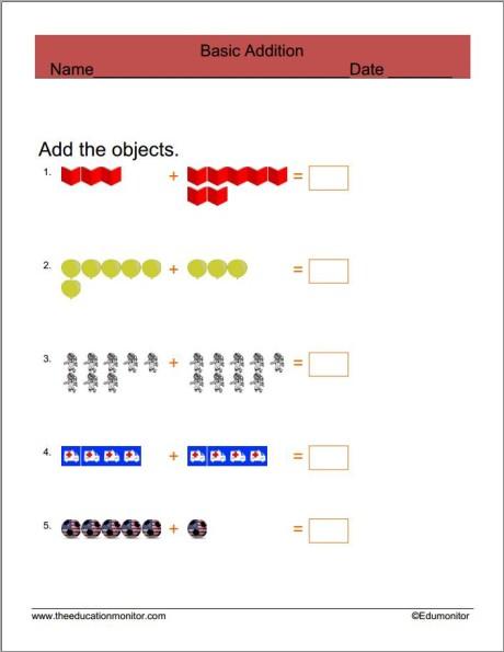 Kindergarten free Math Worksheets and Printables