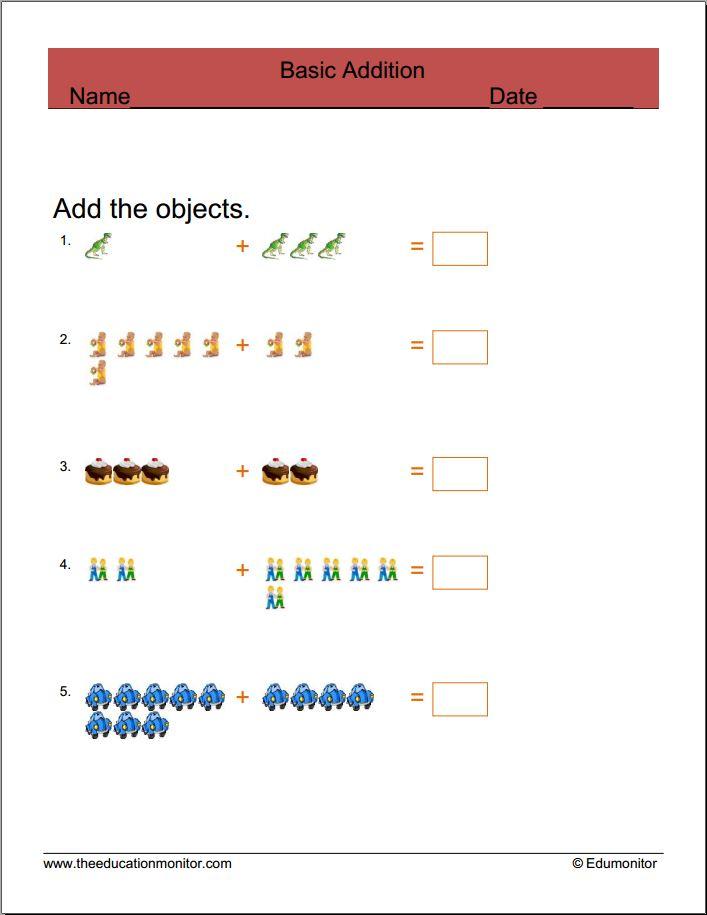 Free Math Worksheets Basic Addition