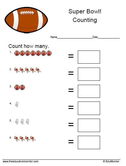 Free math worksheets| First grade printables