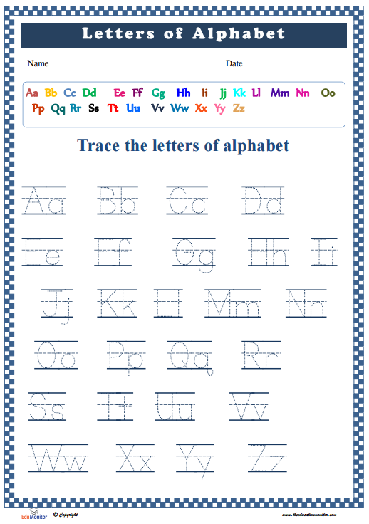 Alphabet practice sheet pdf