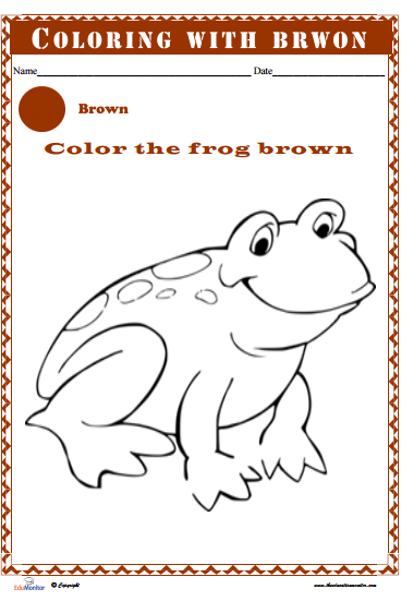 Printable Kids Learning Coloring Pages