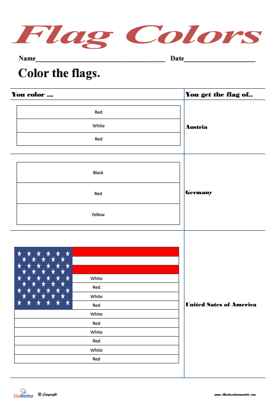 Free Coloring Pages Flags