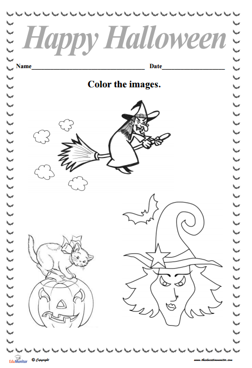 free halloween activities coloring sheets
