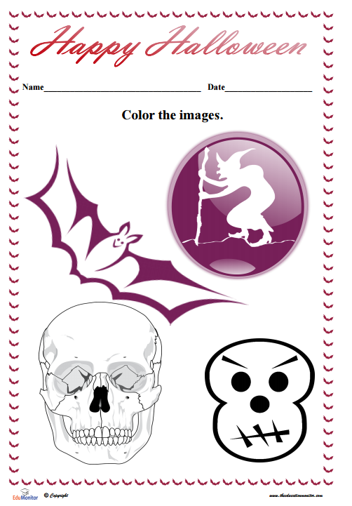 Free Halloween Coloring Pages pdf – EduMonitor