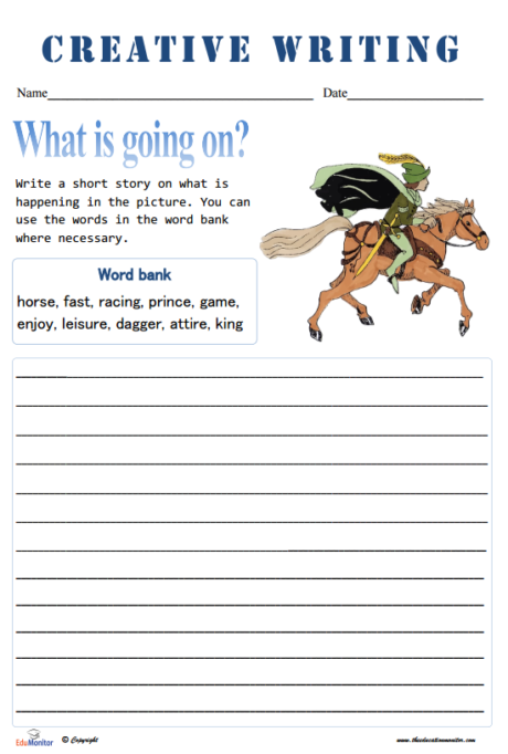 short story assignment pdf