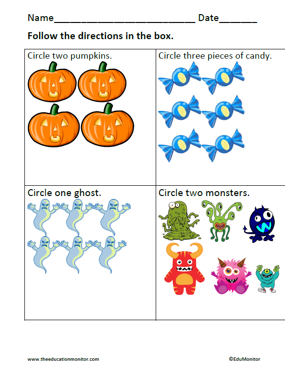 Halloween Counting Worksheets & Printables