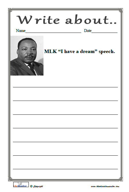 Martin Luther King Worksheets Printables