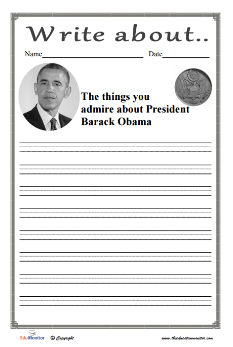Social Studies Printables Barack Obama
