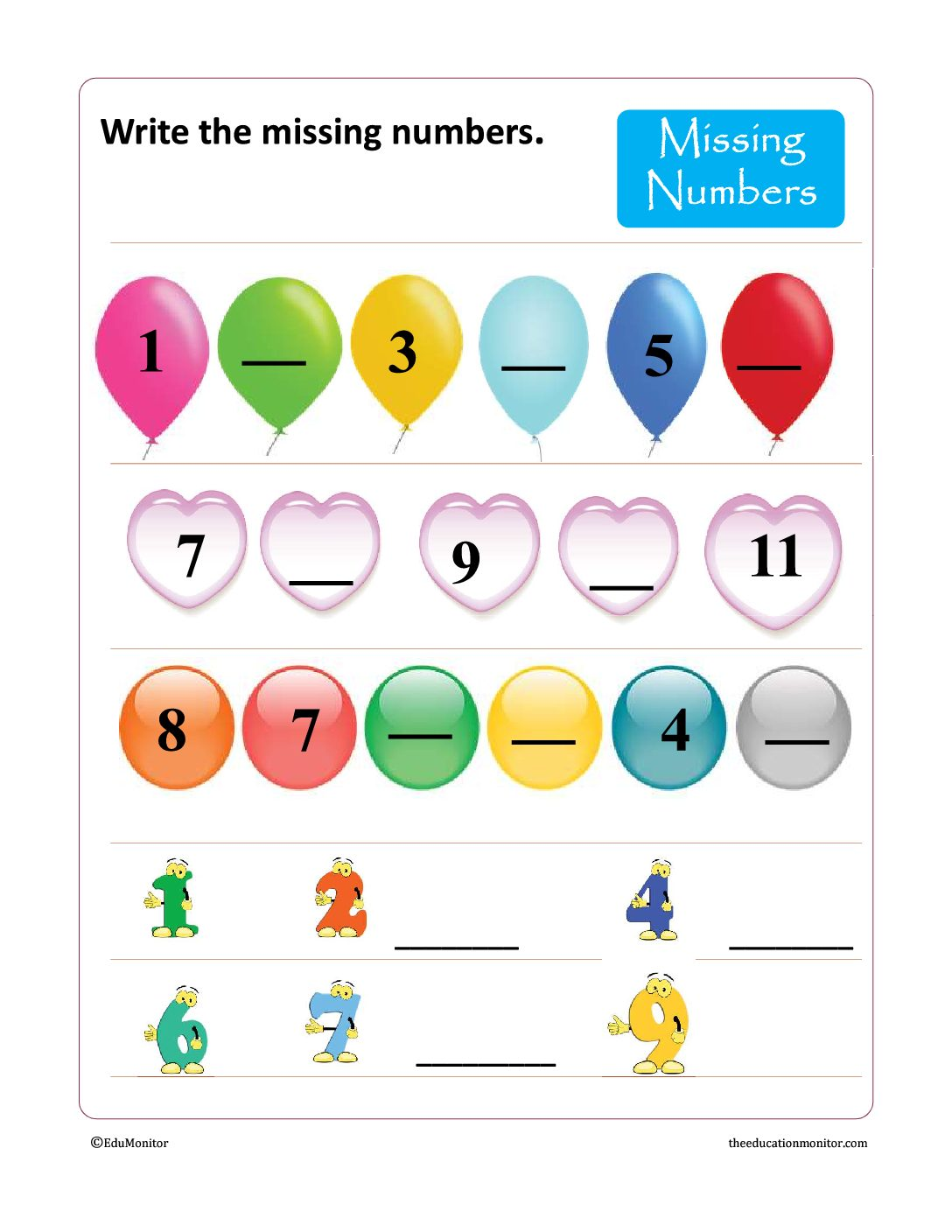 Writing Numbers worksheets & Printables
