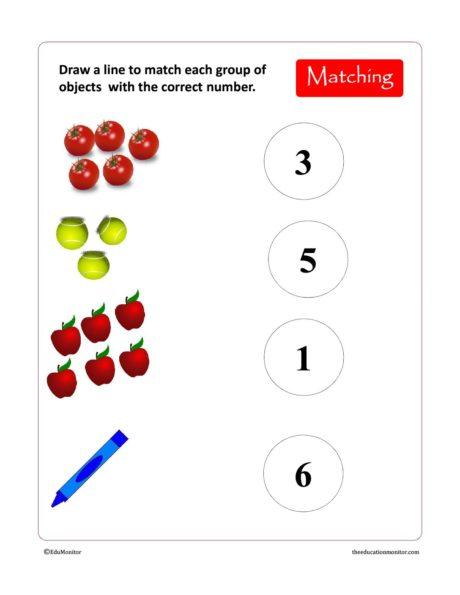 Free Preschool & Kindergarten Numbers Worksheets