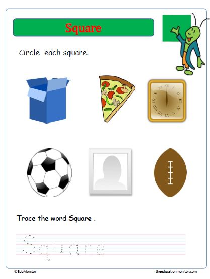 Shapes Learning for Kids Worksheets