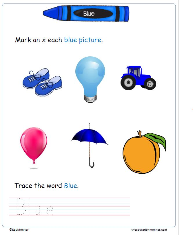 Tracing & Color Writing Worksheets