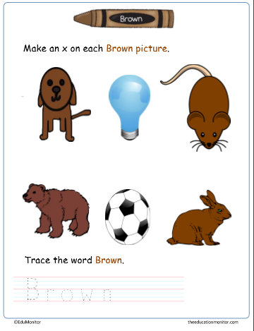 Downloadable Color Worksheets for Preschoolers