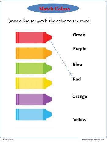 downloadable kindergarten color worksheets printables edumonitor. Black Bedroom Furniture Sets. Home Design Ideas