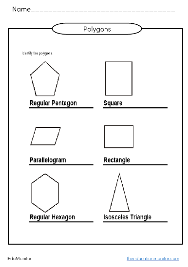 Free polgons and angles worksheets