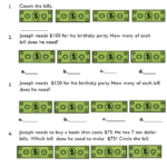 consumer math counting money worksheets