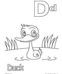 alphabet letter Dd worksheets and printables