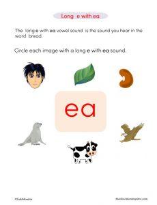 Long o Vowels I Phonics Worksheets