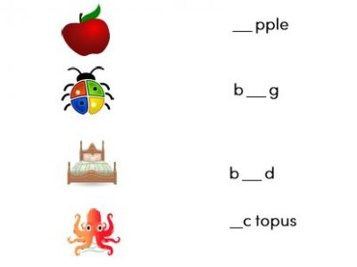 preschool and kindergarten vowels worksheets