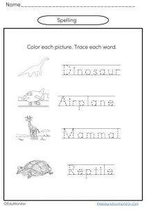 Kindergarten spelling printables pdf