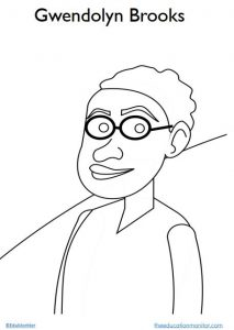 Gwendolyn Brooks I Black History Coloring Page