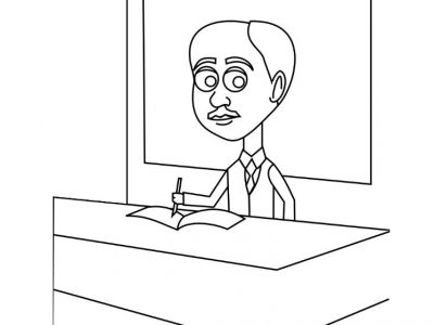 Ralph Ellison I Black History coloring pages