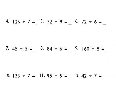4th Grade Division Math Worksheets