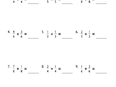 This cool Grade 4 Fractions Addition Worksheet helps kids practice fractions and addition. Use this worksheet to help your kids become math champions.