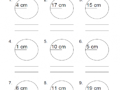 Circumference and Area Worksheets pdf