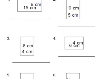 Perimeter Worksheets for 4th Grade Kids