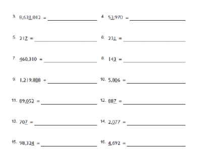 Free 4th Grade Place Value Math Worksheets