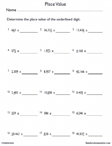 Printable 4th Grade Place Value Worksheets