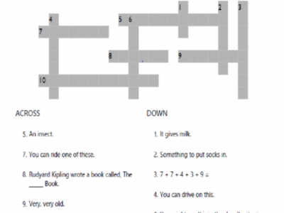 Grade 5 Crossword Puzzle Worksheet is a cool and engaging tool to help your kid build his or her English vocabulary and develop critical thinking skills.