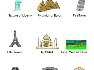 Social Studies_Landmarks worksheets