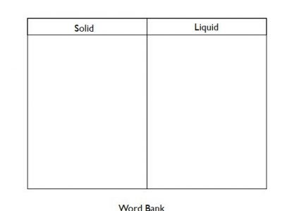 States of Matter I Liquid & Solid Worksheets