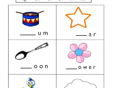 Consonant blends worksheets for 1st Grade